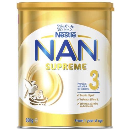 نان فورمولا سوبريم (3) أفضل فيتامين د للرضع مع الحليب الصناعي للأطفال من عمر سنة